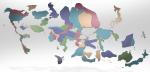 World Cartogram of Mobile PhoneAdoption