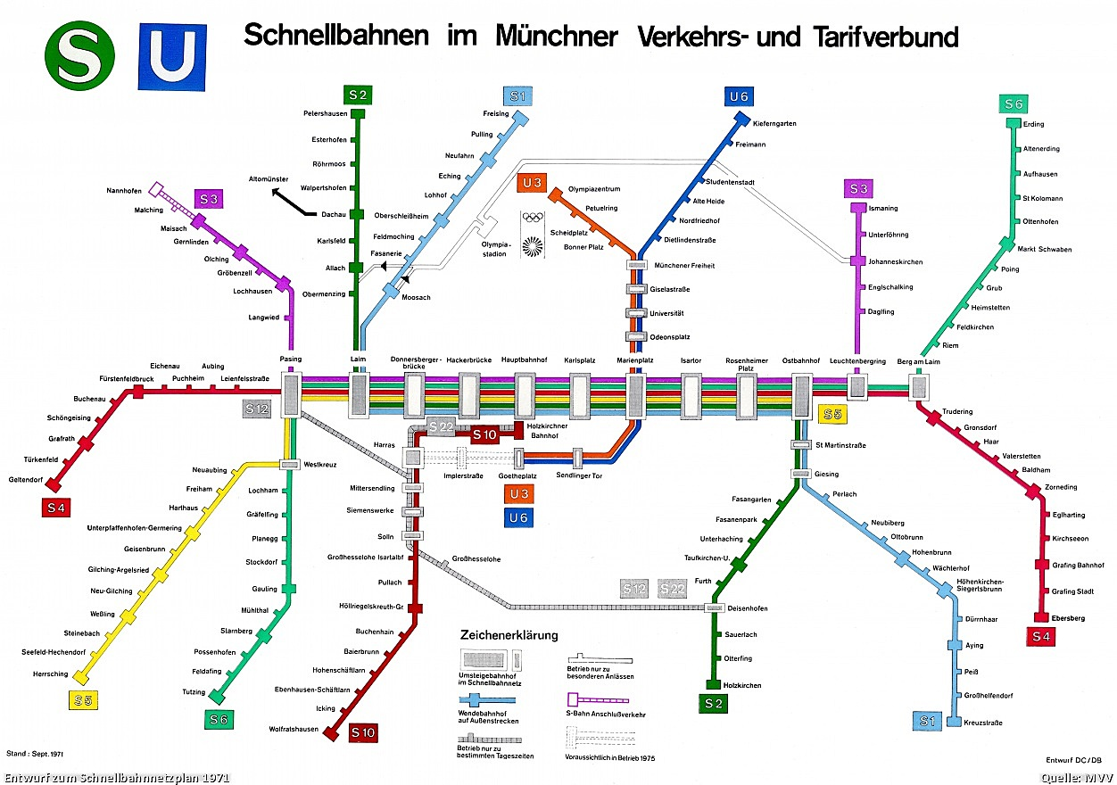 Subway Map Munich