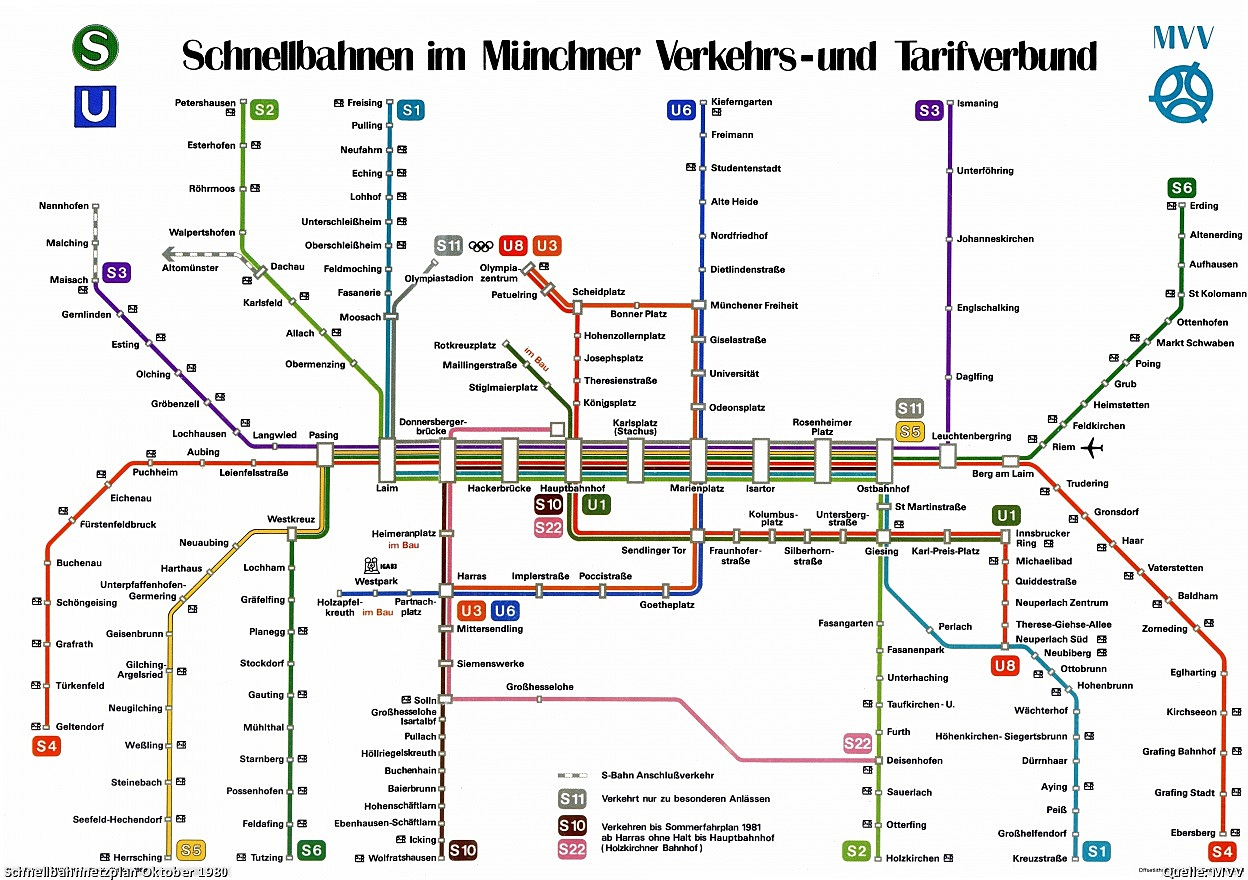 Tube maps visualign munich tube map 1980 ccuart Images