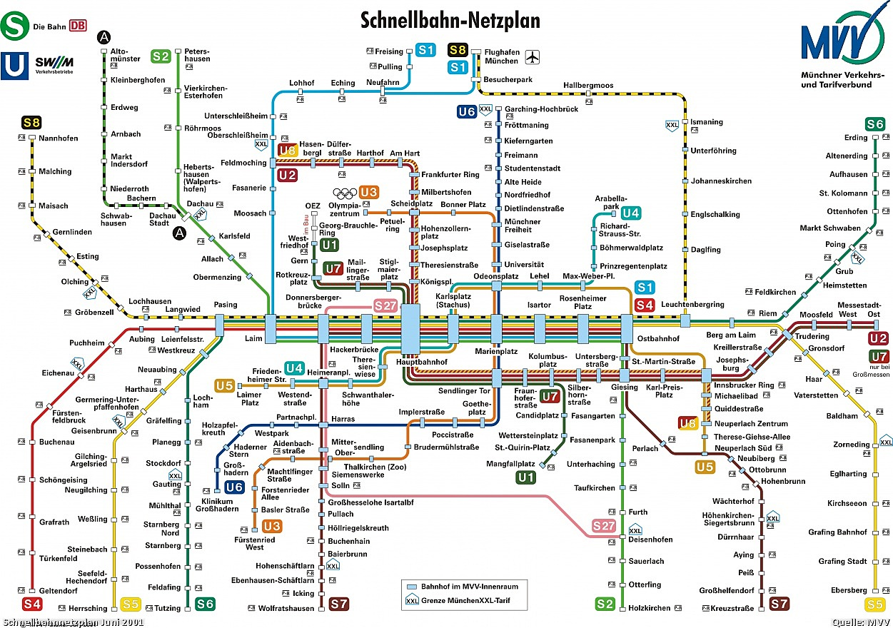 Tube Maps – Munich Tourist Attractions Map