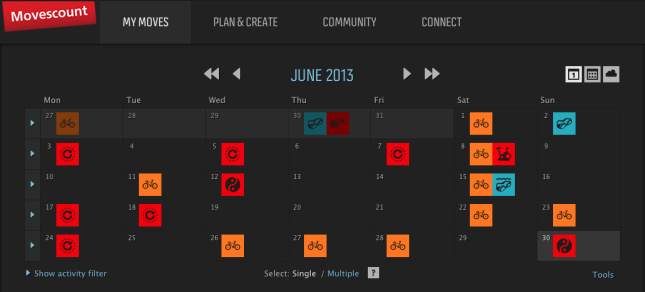 Calendar Control for Moves