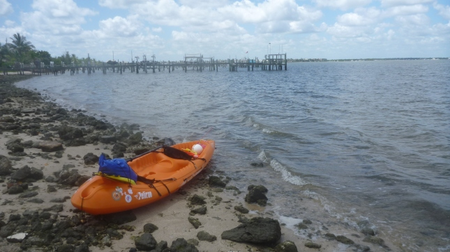 After portage launching into Intracoastal for direct line back to Sandsprit Park