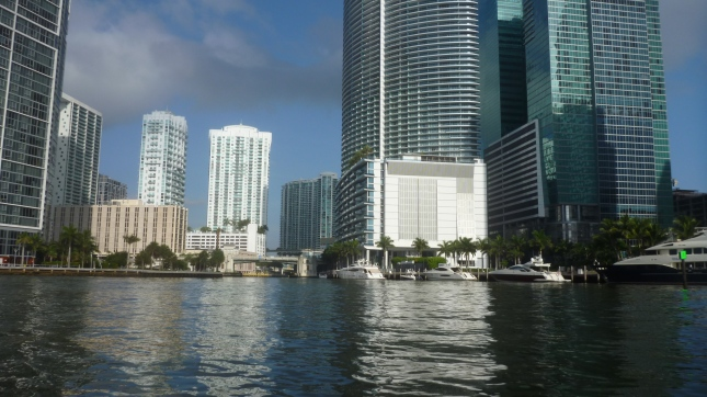 View at mouth of Miami River near Brickell Key
