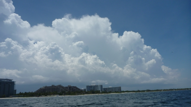 Big storm clouds brewing West of Miami